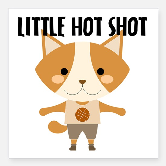 Fox Hot Shot Basketball Square Car Magnet 3&Quot;