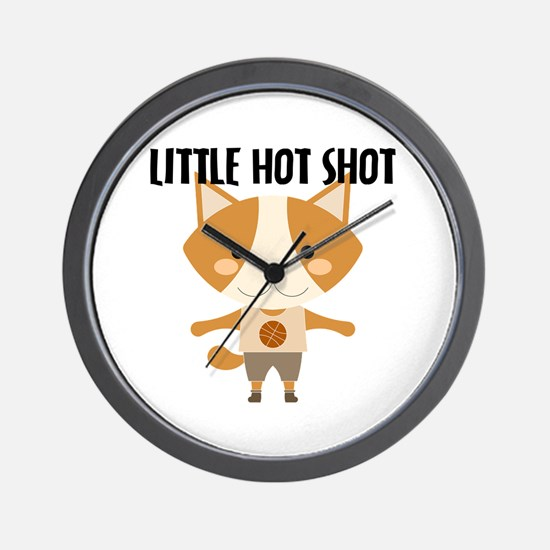 Fox Hot Shot Basketball Wall Clock