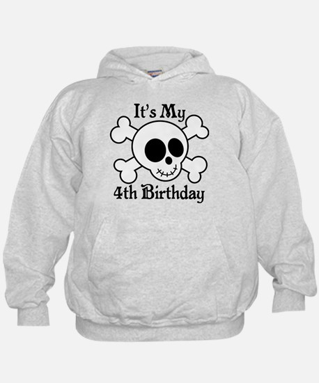 4th Birthday Pirate Skull Hoodie
