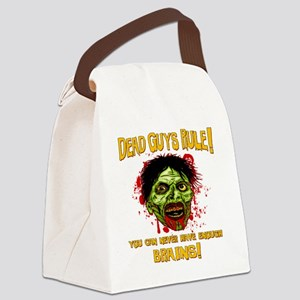 ZOMBIE-DEAD GUYS-BRAINS-cp Canvas Lunch Bag