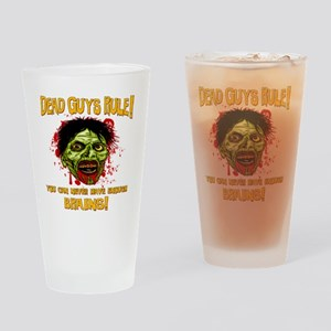 ZOMBIE-DEAD GUYS-BRAINS-cp Drinking Glass
