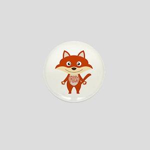 Red Fox Mini Button