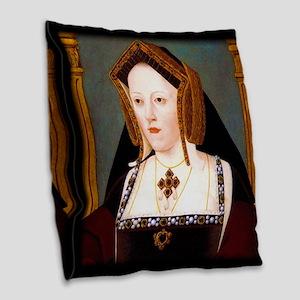Catherine of Aragon Burlap Throw Pillow