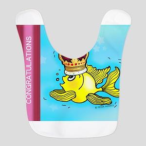 CONGRATULATIONS cute goldfish wearing a crown Bib