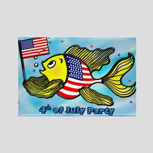American Flag Fish US, 4th of July party invitatio