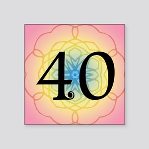 """40th Birthday Party For Her Square Sticker 3"""" x 3"""""""