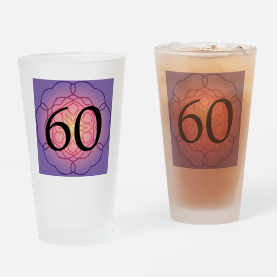 60th Birthday Party For Her Drinking Glass