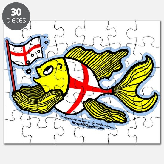 English Flag Fish Puzzle