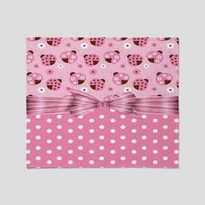 Ladybug Love Throw Blanket