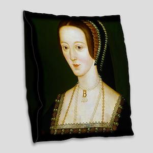 Anne Boelyn Burlap Throw Pillow