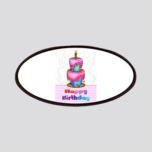 Birthday Cake Fabspark Pink Icing Blue Patches