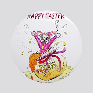 Honey Bunny Happy Easter Ornament (Round)