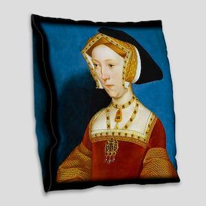 Jane Seymour Burlap Throw Pillow