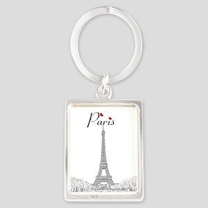 Paris Portrait Keychain