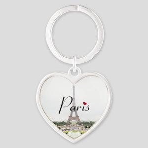 Paris Heart Keychain