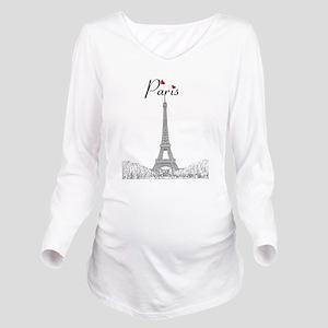 Paris Long Sleeve Maternity T-Shirt