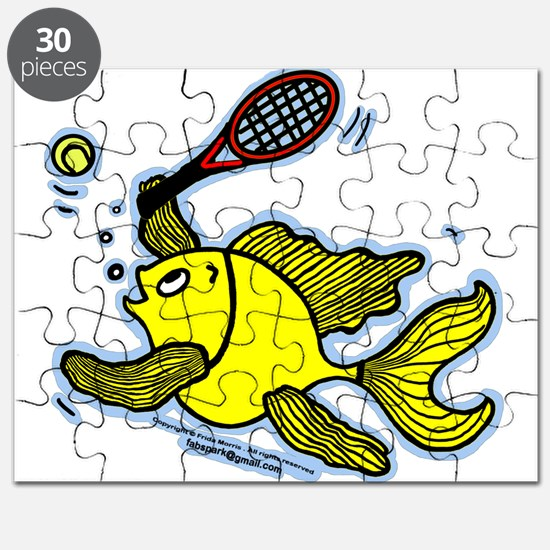 TENNIS Fish, Fish playing Tennis Puzzle