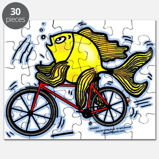 Fish On Bicycle Bike Puzzle