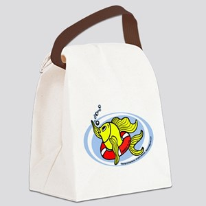 Help Fish Canvas Lunch Bag