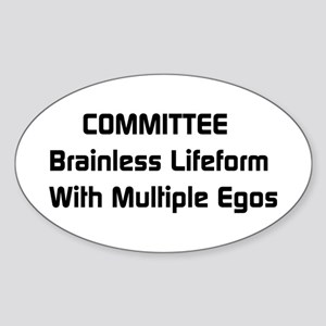 Committee Humor Oval Sticker