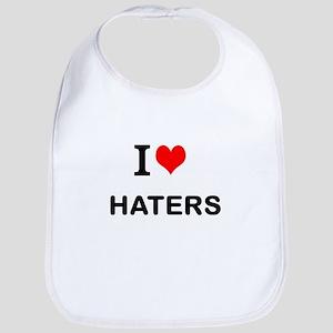 I Love Haters Bib