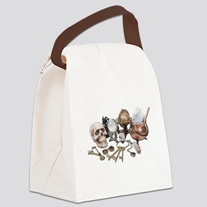 SkullKeysWitchDeskItems070111 Canvas Lunch Bag