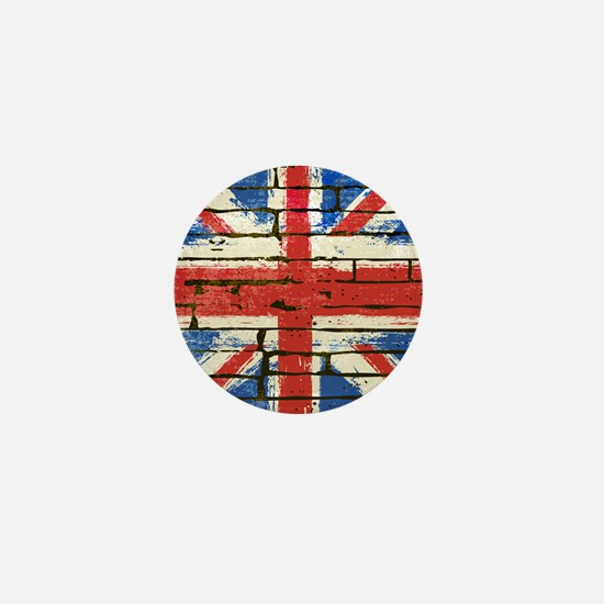 Grunge British Flag Mini Button