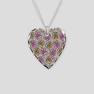 PBJ Sandwich Necklace Heart Charm