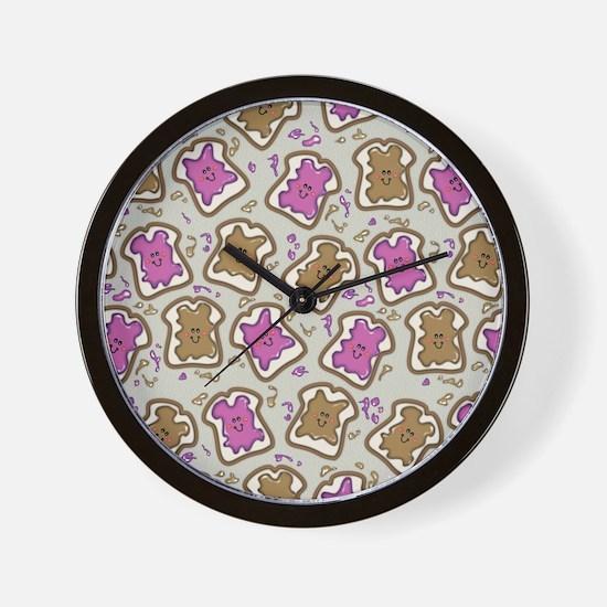 PBJ Sandwich Wall Clock