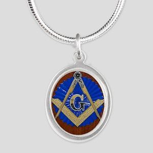 masons Silver Oval Necklace