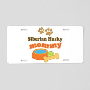Siberian Husky Mom Aluminum License Plate