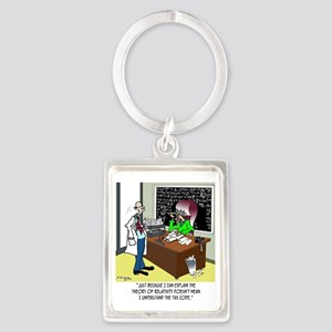 Theory of Relativity  The Tax Co Portrait Keychain