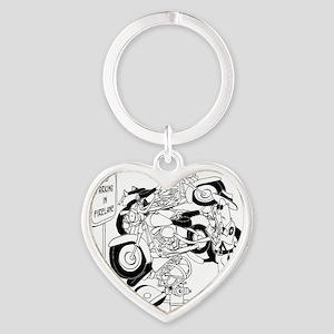 Dont Park in Fire Lane Heart Keychain