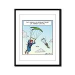 Parrot-chuting Framed Panel Print