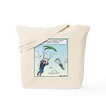Parrot-chuting Tote Bag