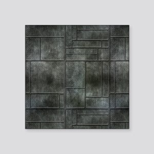 "Industrial Grey Metal Square Sticker 3"" x 3"""