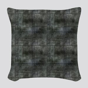 Industrial Grey Metal Woven Throw Pillow
