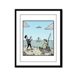 Mime fishing Framed Panel Print