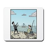 Mime fishing Mousepad