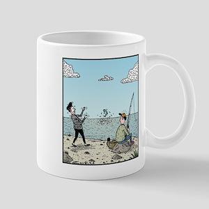 Mime fishing Mugs