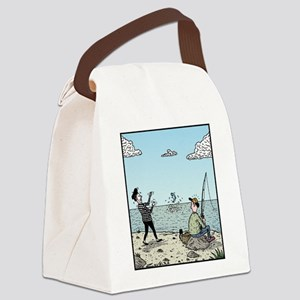 Mime fishing Canvas Lunch Bag