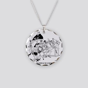 Disorder in the Court Necklace Circle Charm