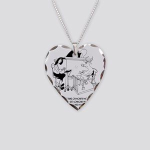 A Cow Testifies Necklace Heart Charm