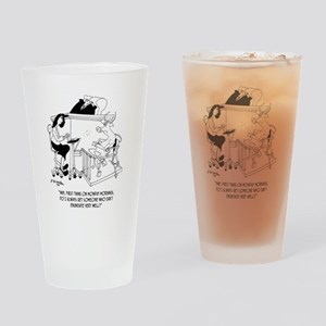 A Cow Testifies Drinking Glass