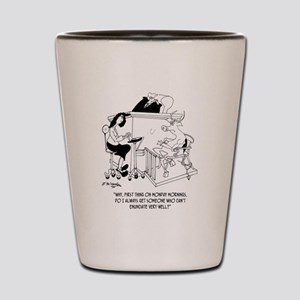 A Cow Testifies Shot Glass