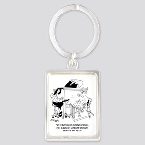 A Cow Testifies Portrait Keychain
