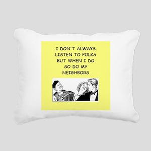 polka Rectangular Canvas Pillow