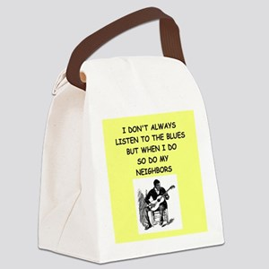 the blues Canvas Lunch Bag