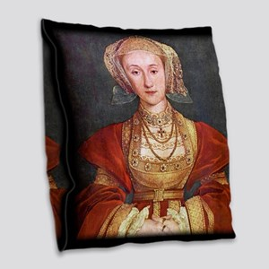 Anne of Cleves Burlap Throw Pillow