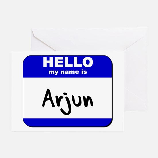 hello my name is arjun  Greeting Cards (Package of